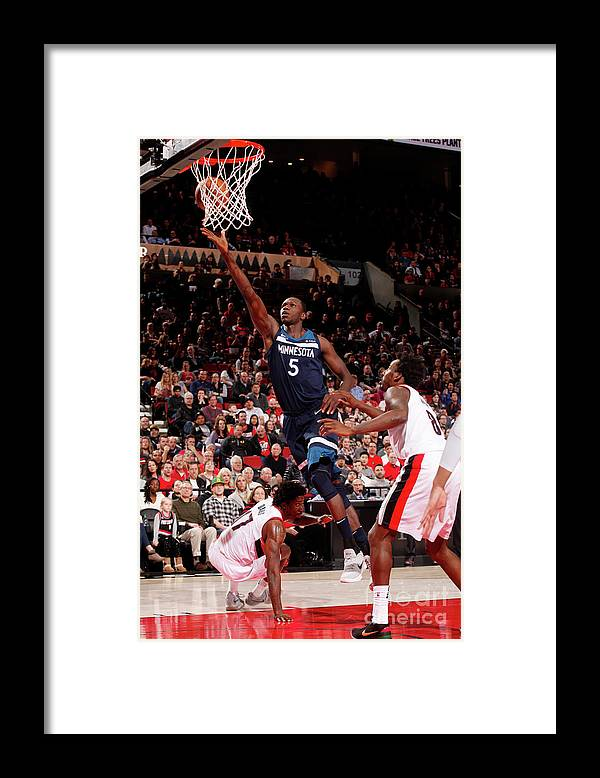 Nba Pro Basketball Framed Print featuring the photograph Gorgui Dieng by Cameron Browne