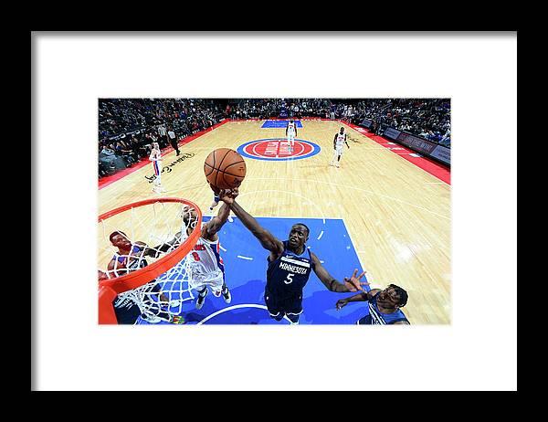 Nba Pro Basketball Framed Print featuring the photograph Gorgui Dieng by Chris Schwegler