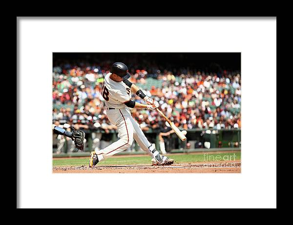 San Francisco Framed Print featuring the photograph Gorkys Hernandez and Buster Posey by Ezra Shaw