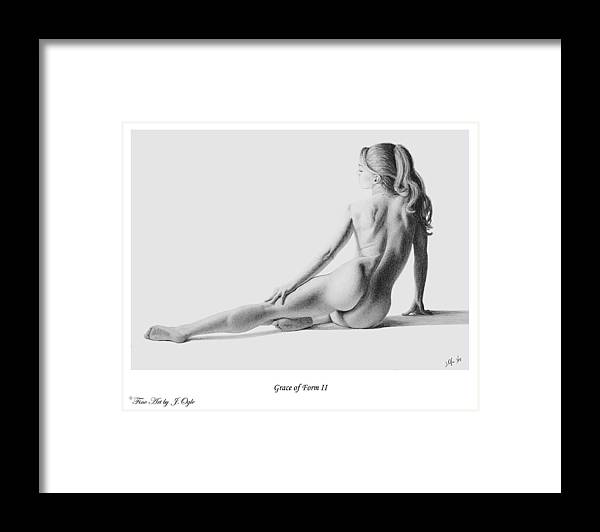 Pastel Framed Print featuring the painting Grace Of Form 2  print only by Joseph Ogle