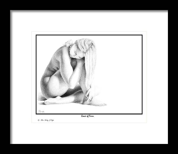 Print Framed Print featuring the drawing Grace Of Form print only by Joseph Ogle
