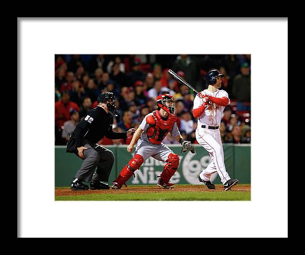 American League Baseball Framed Print featuring the photograph Grady Sizemore by Jared Wickerham