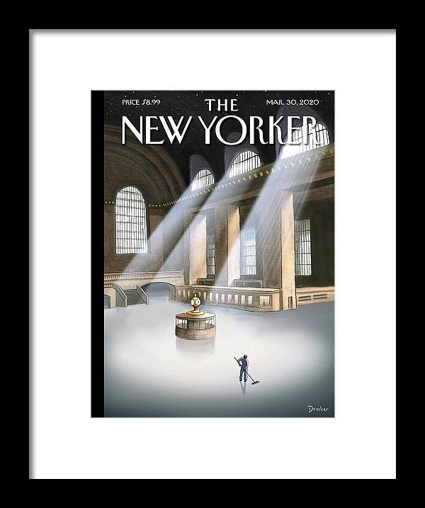 Grand Central Terminal Framed Print featuring the painting Grand Central Terminal by Eric Drooker