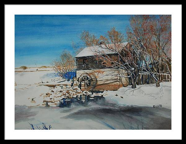 Mill Framed Print featuring the painting Grants Old Mill by Susan Moore