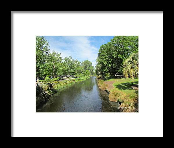 Christchurch Gardens Framed Print featuring the photograph Great walks by Joyce Woodhouse