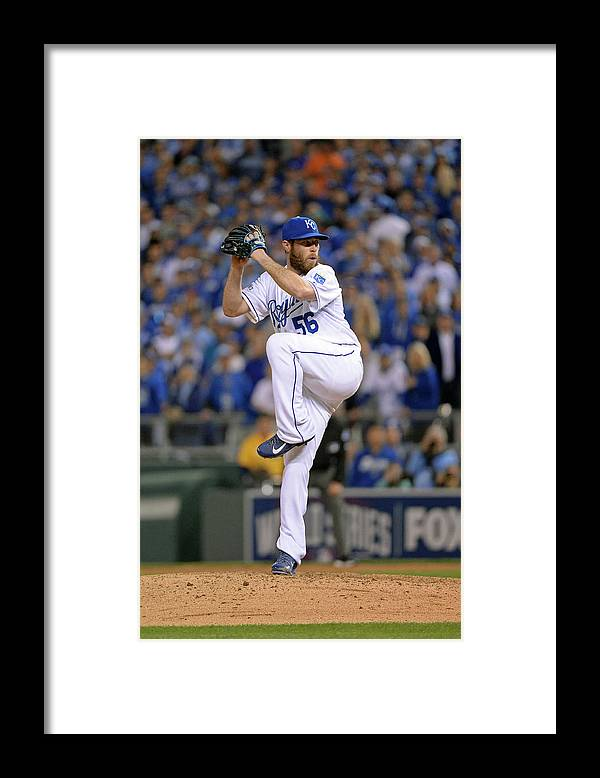 Playoffs Framed Print featuring the photograph Greg Holland by Ron Vesely