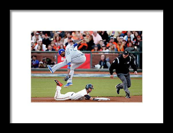 San Francisco Framed Print featuring the photograph Gregor Blanco and Alcides Escobar by Thearon W. Henderson