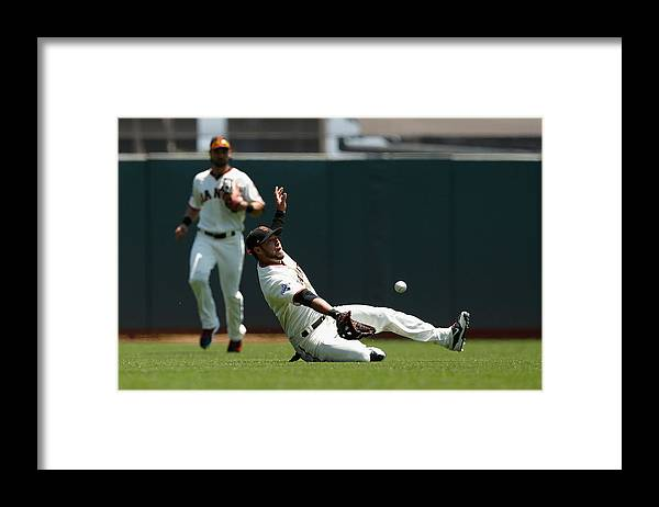 San Francisco Framed Print featuring the photograph Gregor Blanco and Billy Burns by Lachlan Cunningham