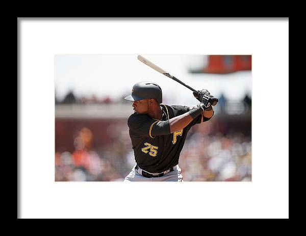 San Francisco Framed Print featuring the photograph Gregory Polanco by Ezra Shaw