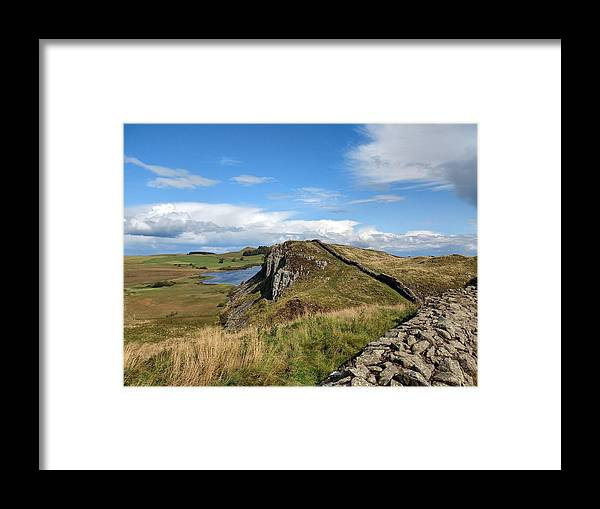 Landscape Framed Print featuring the photograph Hadrianswall by Pop