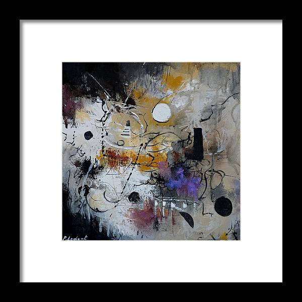 Abstract Framed Print featuring the painting Hamilcar s strategy by Pol Ledent