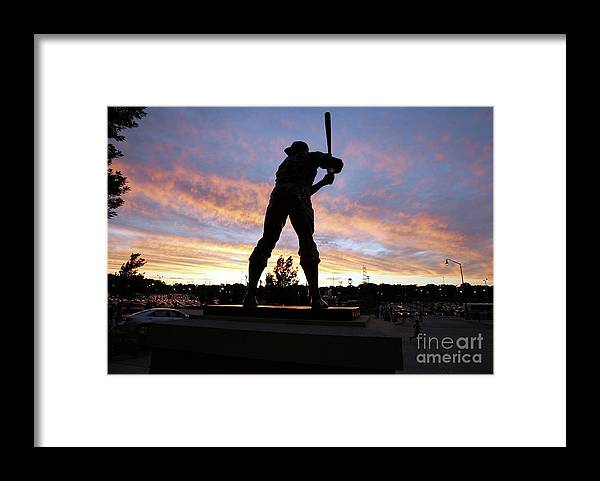 People Framed Print featuring the photograph Hank Aaron by Icon Sports Wire