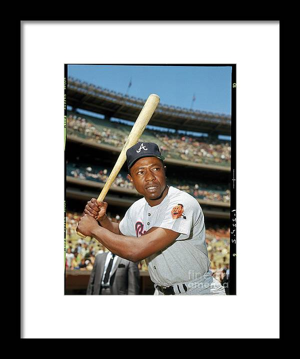 People Framed Print featuring the photograph Hank Aaron by Louis Requena