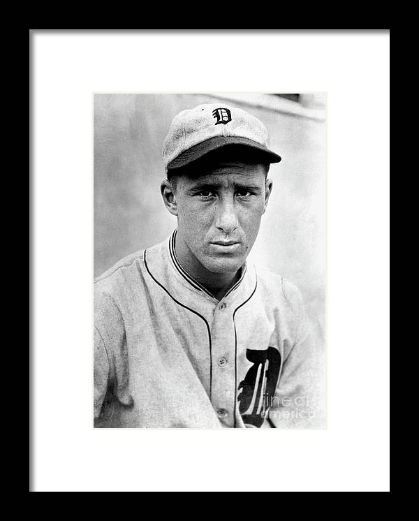 American League Baseball Framed Print featuring the photograph Hank Greenberg by National Baseball Hall Of Fame Library