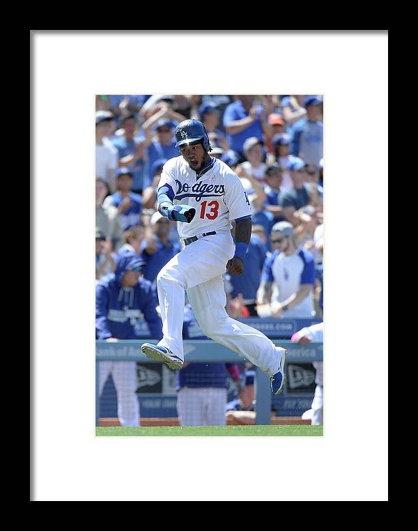 American League Baseball Framed Print featuring the photograph Hanley Ramirez And Adrian Gonzalez by Harry How