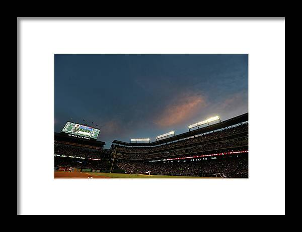 People Framed Print featuring the photograph Hanley Ramirez and Yovani Gallardo by Ronald Martinez