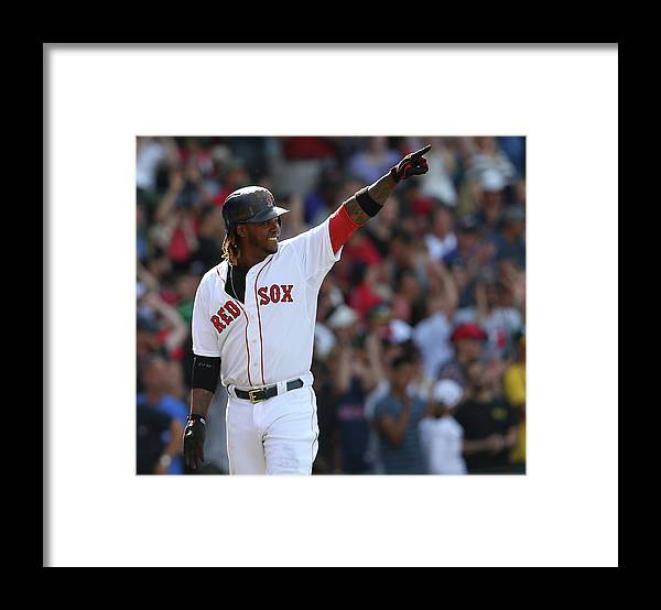 Three Quarter Length Framed Print featuring the photograph Hanley Ramirez by Jim Rogash
