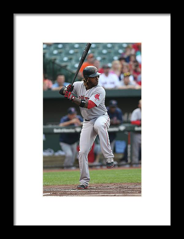 People Framed Print featuring the photograph Hanley Ramirez by Patrick Smith