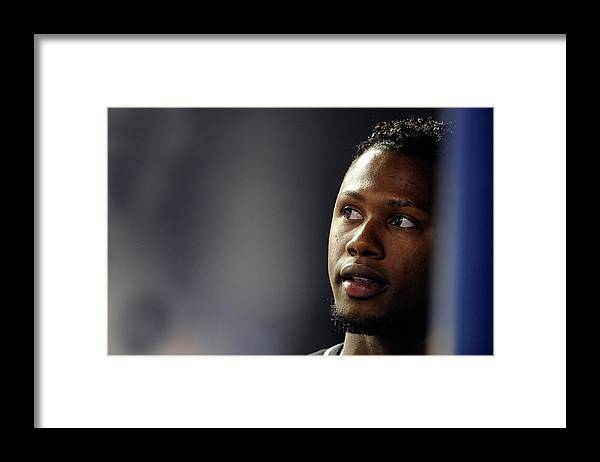 Looking Framed Print featuring the photograph Hanley Ramirez by Ronald C. Modra/sports Imagery