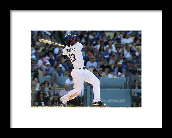 California Framed Print featuring the photograph Hanley Ramirez by Stephen Dunn