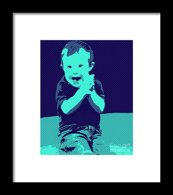 Pray Framed Print featuring the painting Happy Prayers by Jack Bunds