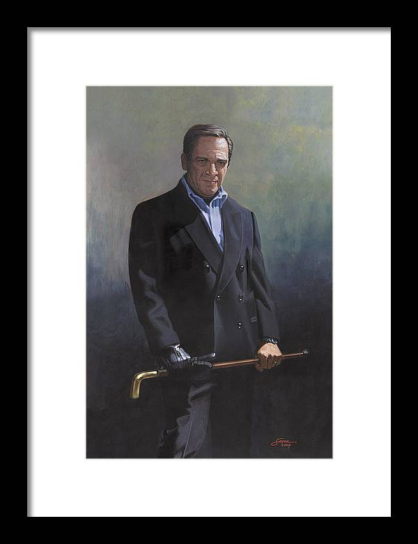 #formal Portrait Of Harold Shull Framed Print featuring the painting Harold Shull Circa 2004 by Harold Shull