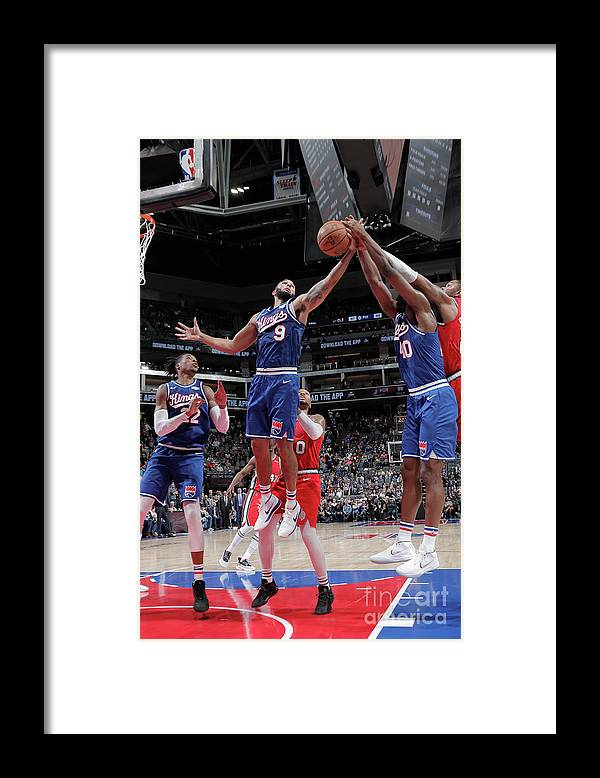 Nba Pro Basketball Framed Print featuring the photograph Harrison Barnes and Cory Joseph by Rocky Widner