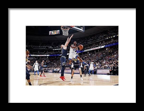 Nba Pro Basketball Framed Print featuring the photograph Harrison Barnes by Garrett Ellwood