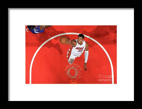 Nba Pro Basketball Framed Print featuring the photograph Hassan Whiteside by Andrew D. Bernstein