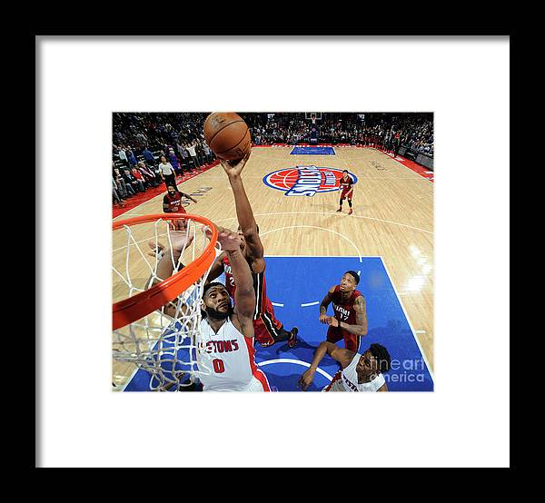 Nba Pro Basketball Framed Print featuring the photograph Hassan Whiteside by Chris Schwegler