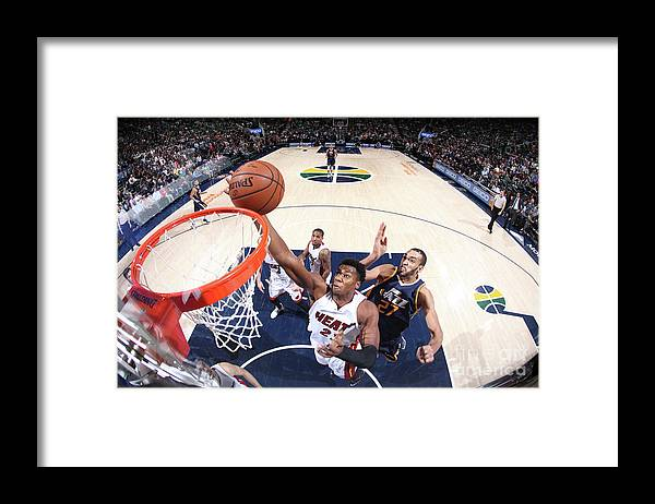 Nba Pro Basketball Framed Print featuring the photograph Hassan Whiteside by Melissa Majchrzak