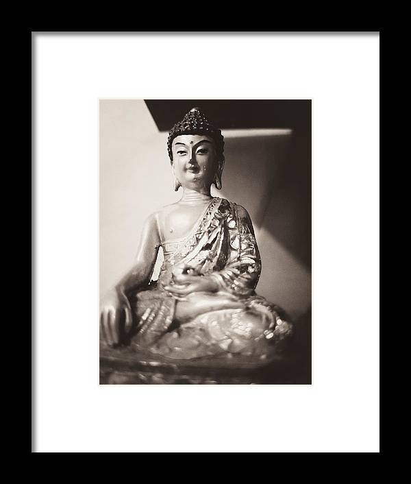 Buddha Framed Print featuring the photograph Healing Light, The Buddha by Barista Uno