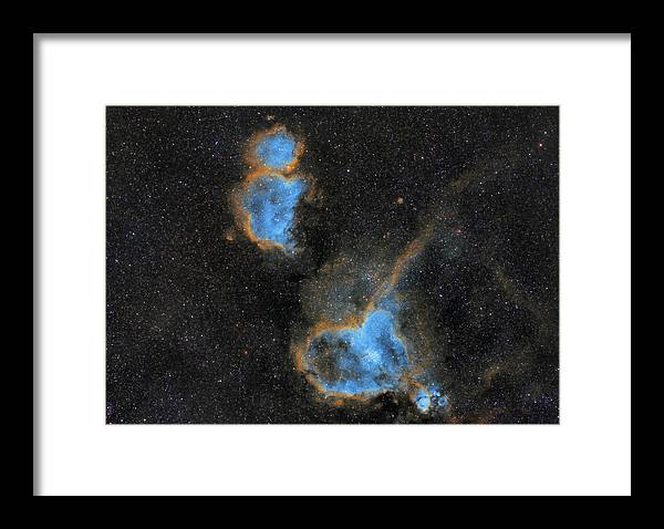 Nebula Framed Print featuring the photograph Heart and Soul Nebula by Prabhu Astrophotography