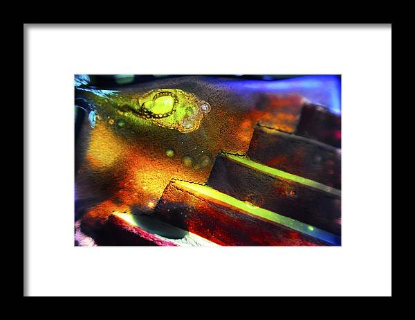 Abstract Framed Print featuring the photograph Heart of Glass by Skip Hunt