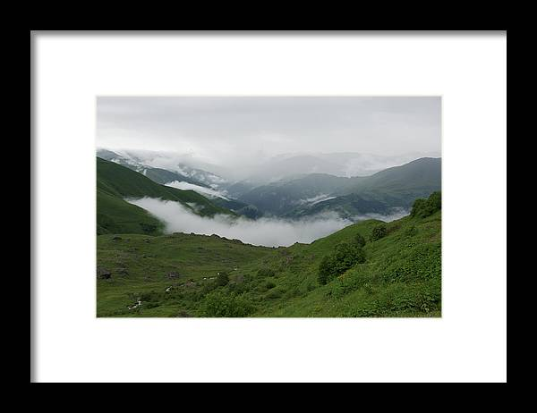 Scenics Framed Print featuring the photograph Heavy clouds over Abudelauri Valley, Caucasus Mountains, Georgia by Vyacheslav Argenberg
