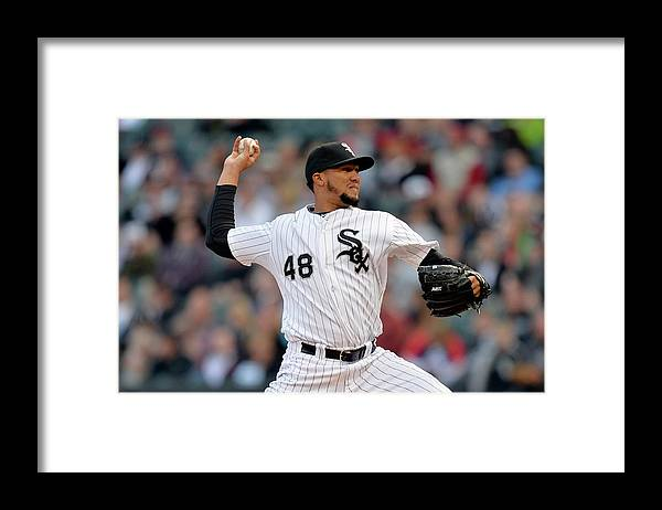 American League Baseball Framed Print featuring the photograph Hector Noesi by Brian Kersey