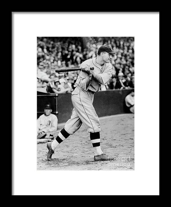 People Framed Print featuring the photograph Heinie Manush by National Baseball Hall Of Fame Library