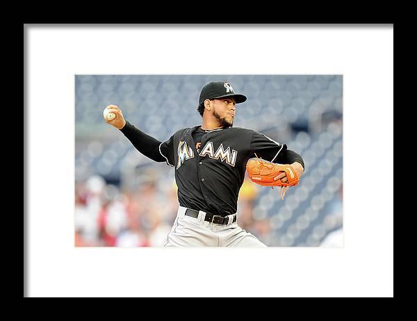 American League Baseball Framed Print featuring the photograph Henderson Alvarez by Greg Fiume