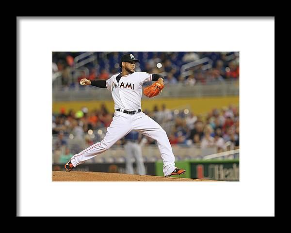 American League Baseball Framed Print featuring the photograph Henderson Alvarez by Mike Ehrmann