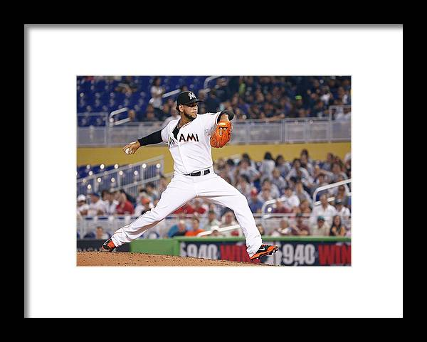American League Baseball Framed Print featuring the photograph Henderson Alvarez by Rob Foldy