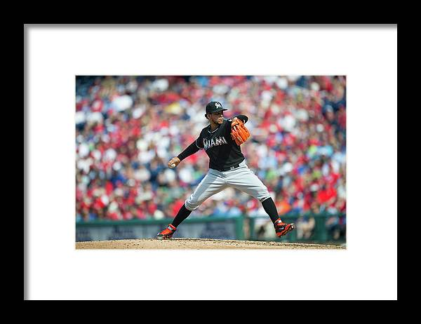 Citizens Bank Park Framed Print featuring the photograph Henderson Alvarez by Rob Tringali