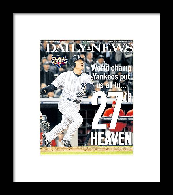 American League Baseball Framed Print featuring the photograph Hideki Matsui by New York Daily News Archive
