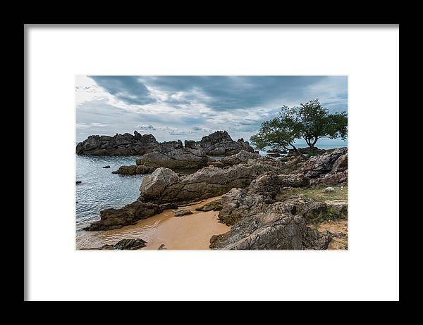 Tranquility Framed Print featuring the photograph Hin Khrong View Point at Chanthaburi, Thailand by Lifeispixels