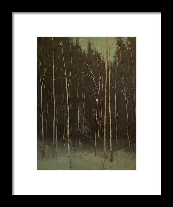 Framed Print featuring the painting Hinterland by Mary Jo Van Dell