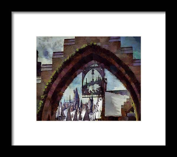 Hogsmeade Framed Print featuring the photograph Hogsmeade Entrance Archway by Cedric Hampton
