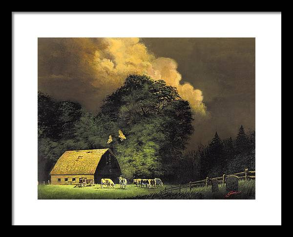 #home From The Hunt Framed Print featuring the painting Home From The Hunt by Harold Shull