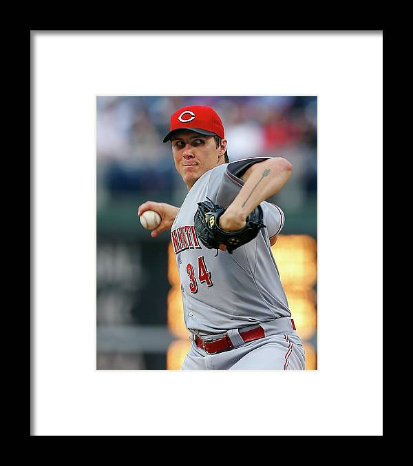 Second Inning Framed Print featuring the photograph Homer Bailey by Rich Schultz