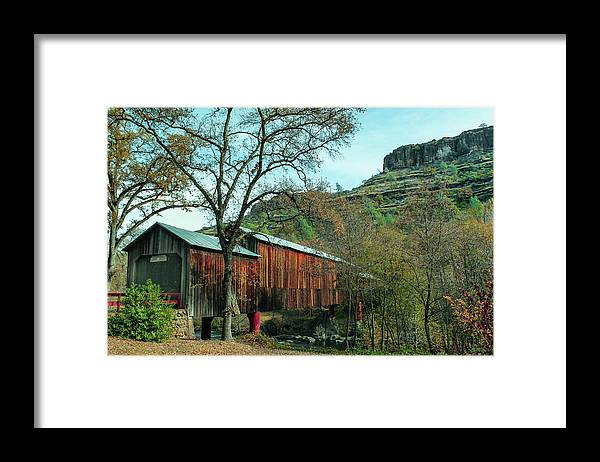 Covered Bridge Framed Print featuring the photograph Honey Run Covered Bridge by John Heywood