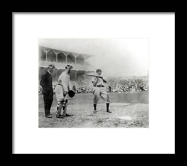 Home Base Framed Print featuring the photograph Honus Wagner by National Baseball Hall Of Fame Library