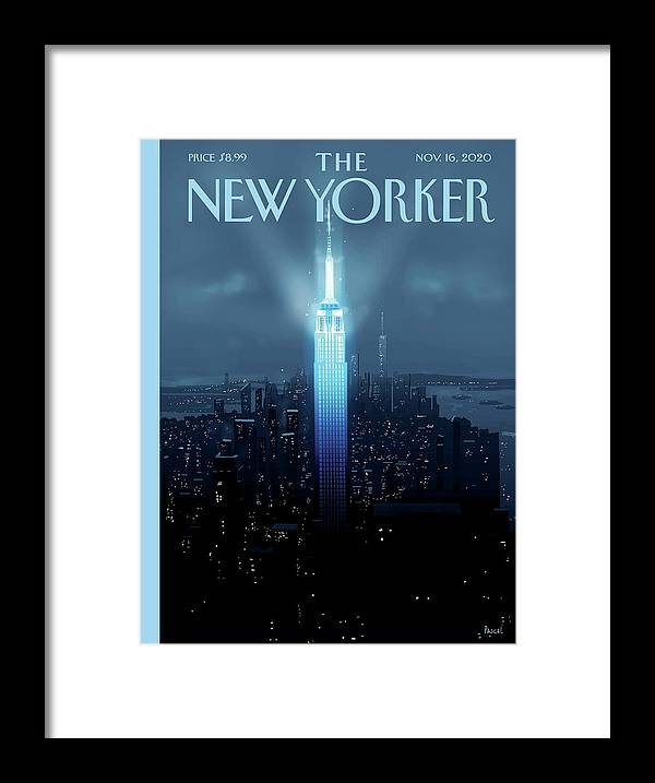 New York Framed Print featuring the painting Hope Again by Pascal Campion